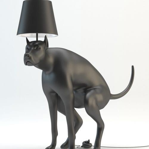 Good Boy Pooping Dog Floor Lamp