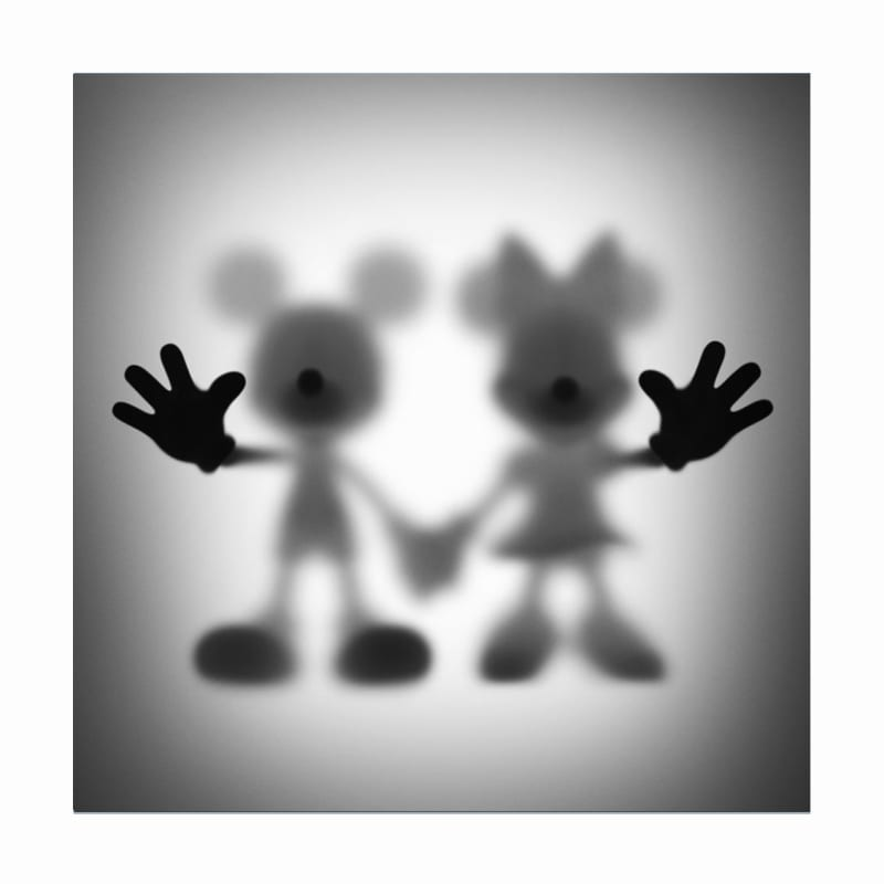 Mickey and Minnie Mouse Print