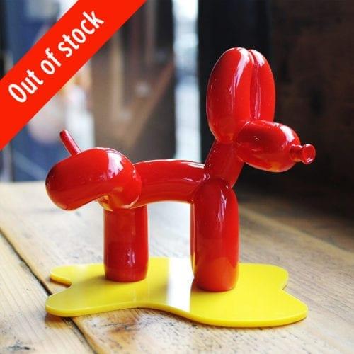 Peepek Red Mini Balloon Dog Sculpture